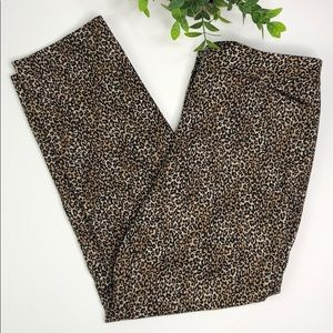 WHBM | leopard print slim ankle pants size 4R